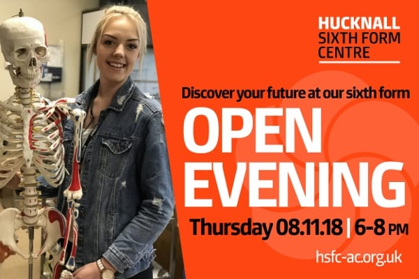 Sixth Form Open Evening – 8 November 2018
