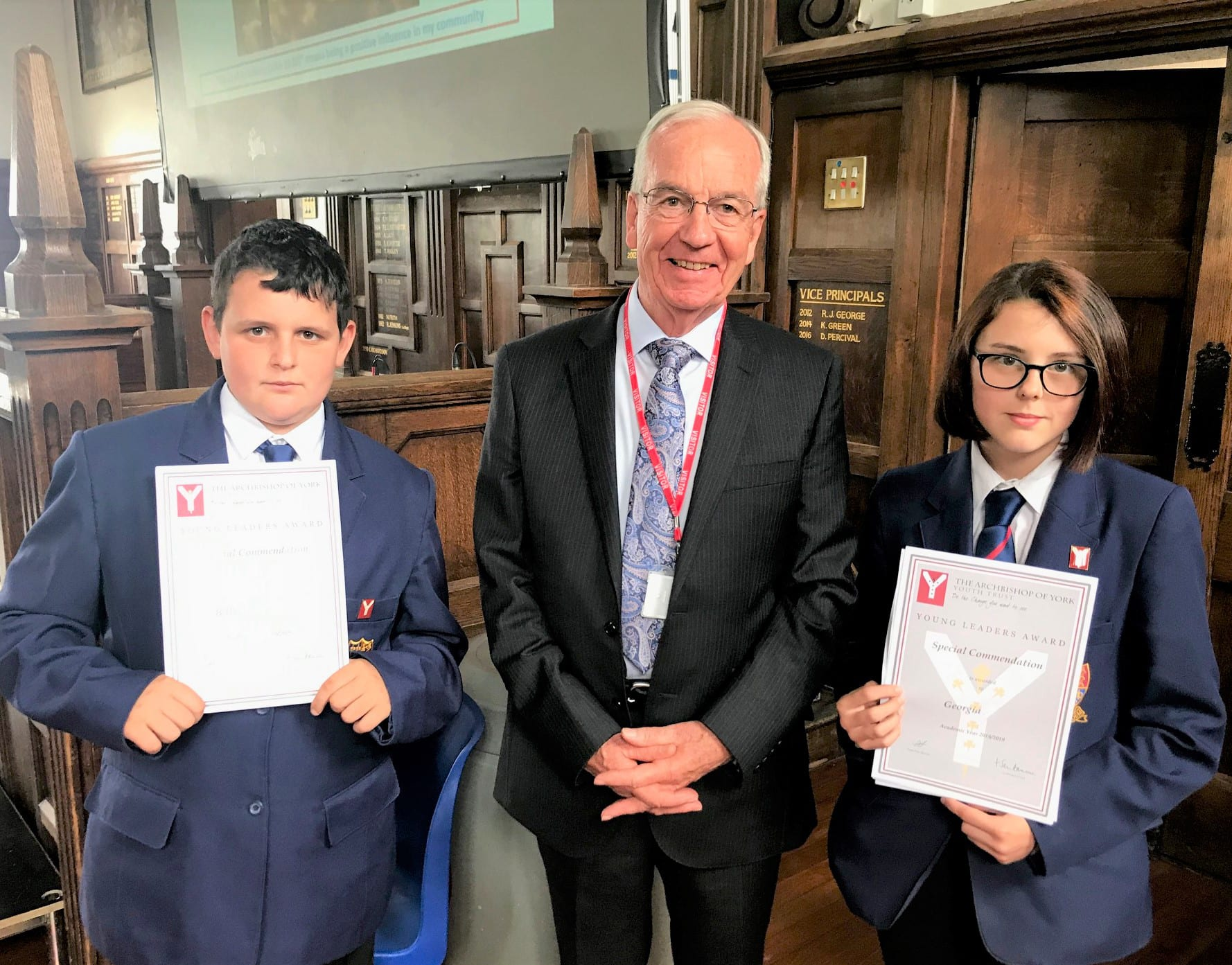 Year 8 students receive Young Leaders Awards
