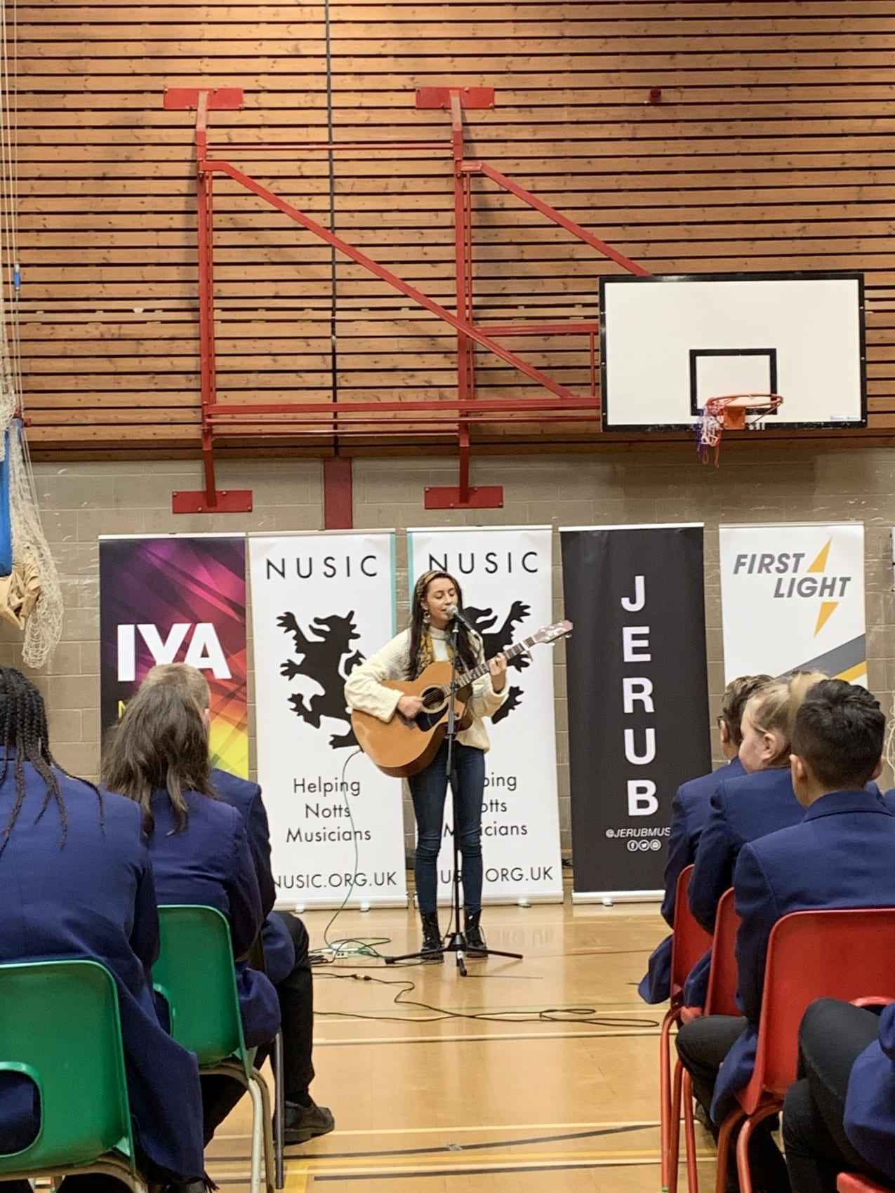 Students inspired by visit from NUSIC recording artists