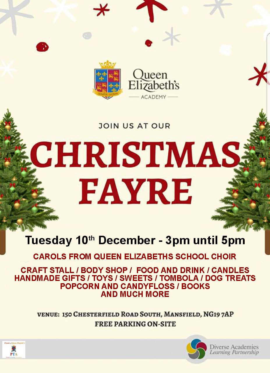 Christmas Fayre, 10 Dec, 3-5pm