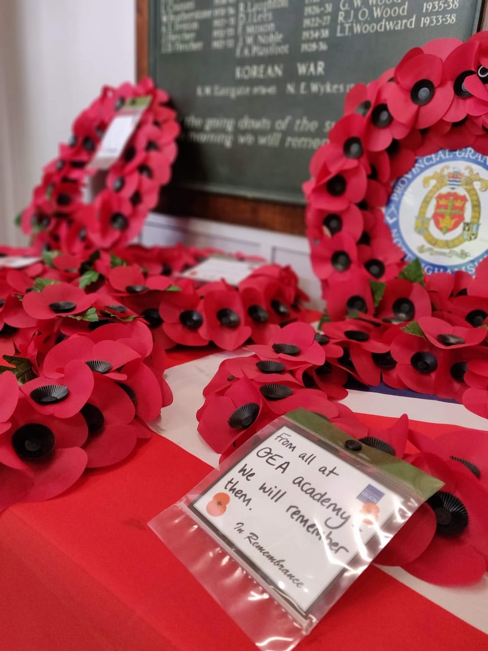 Academy gather for 2019 Remembrance service