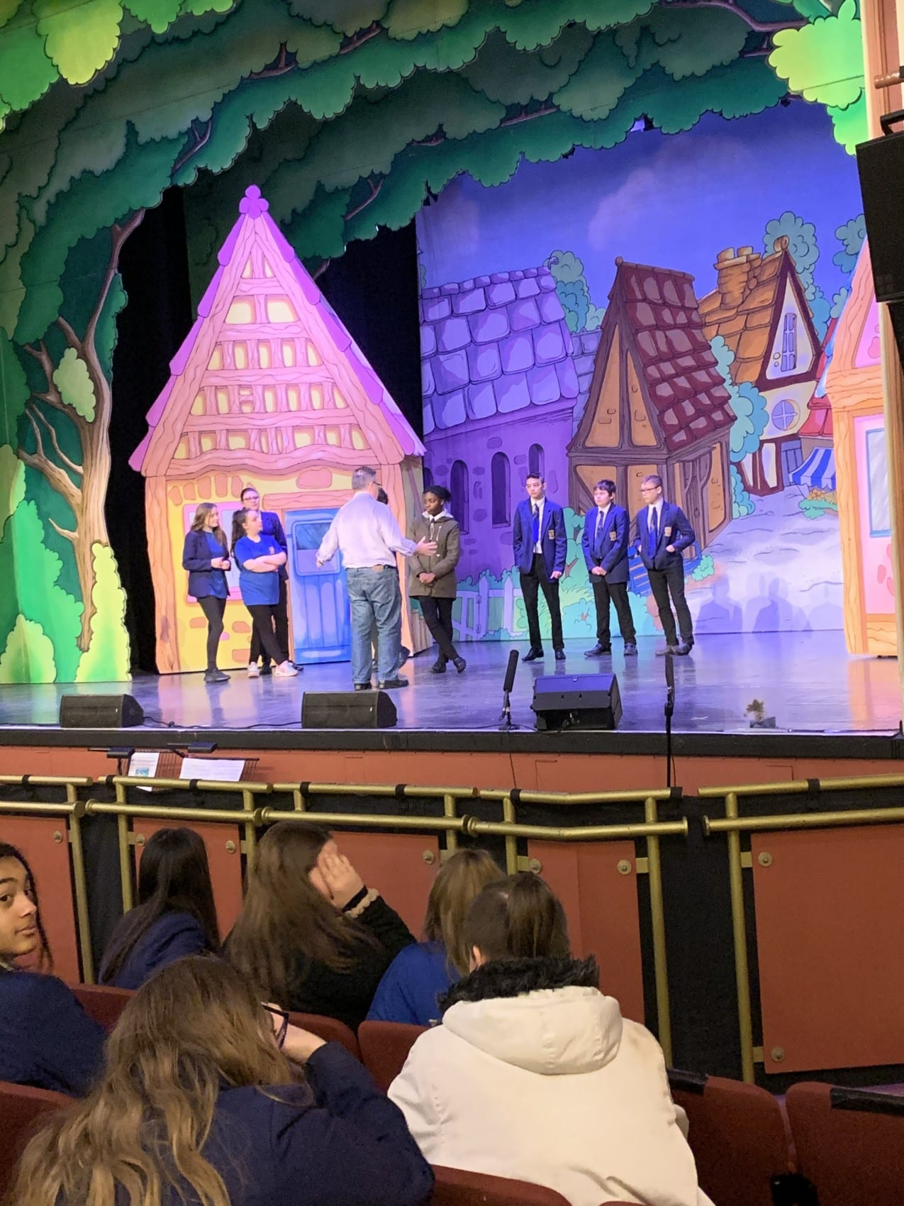 Year 9s take part in drama workshop at the Palace Theatre